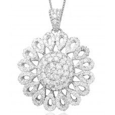 Brillante Diamond Pendant 18K White Gold