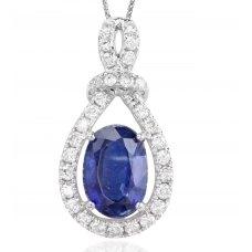 Redondo Kynite Diamond Pendant 18K White Gold