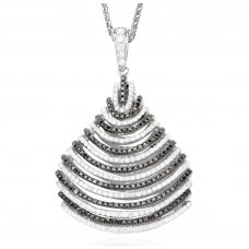 Piramide Black Diamond Pendant 18K Black Gold