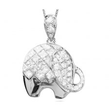 Fantasia Diamond Pendant 18K White Gold