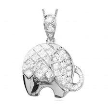 Fantasia Diamond Pendant 18K White Gold