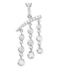 Gotita Bezel Diamond Pendant 18K White Gold