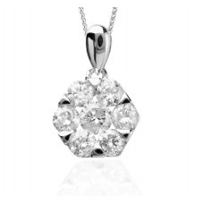 Piccolo Diamond Pendant 18K White Gold