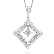 Petillant Diamond Pendant 18K Whtie Gold