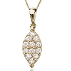 Ouro Channel Diamond Pendant 18K Yellow Gold