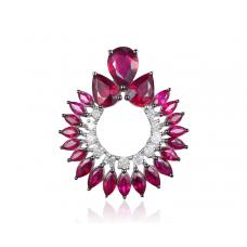 Groof Ruby Diamond Earring 18k Black Gold