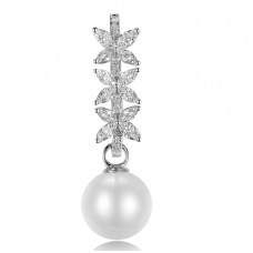 Trand Pearl Diamond Earring 18k White Gold