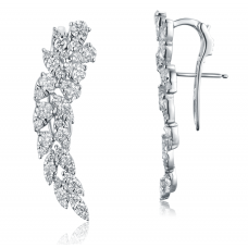 Angular Prong Diamond Earring 18K White Gold