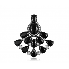 Fano Spinel Diamond Earring 18k Black Gold