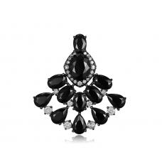 Fano Spinel Diamond Earring 18k Black Gold