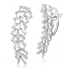 Flugeldar Diamond Earring 18k White Gold