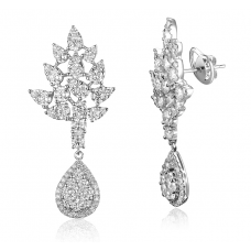 Acersecomes Diamond Earring 18k White Gold