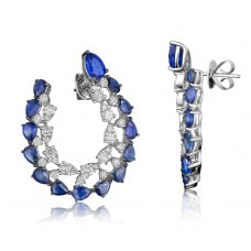 Formosa Kyanite Diamond Earring 18K White Gold