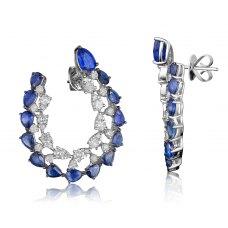 Formosa Kyanite Diamond Earring 18K White Gold