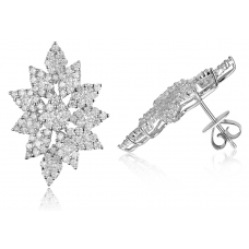 Avery Diamond Earring 18k White Gold