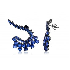 Homage Kyanite Earring 18K Black Gold