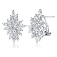 Diva Channel Diamond Earring 18K White Gold