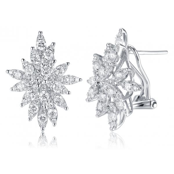 Diva Channel Diamond Earring 18K White Gold
