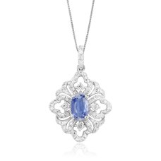 Florido Kynite Diamond Pendant 18K White Gold