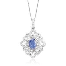 Florido Kynite Diamond Pendant 18K White Gold