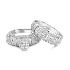 Eccezion stackable Diamond Ring 18k White Gold