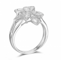 Admirable Garden Diamond Ring 18K White Gold