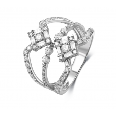 Tanaquil Shared Diamond Ring 18K White Gold