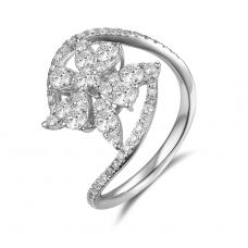 Otis Shared Prong Diamond Ring 18K White Gold