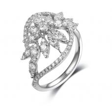 Amity Channel Diamond Ring 18K White Gold