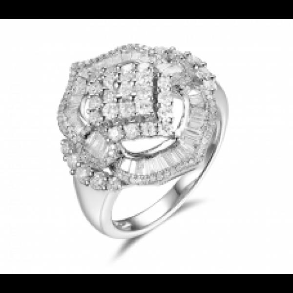 Brillante Channel Diamond Ring 18k White Gold