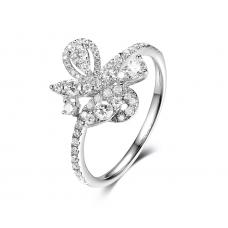 Blomst Channel Diamond Ring 18k White Gold