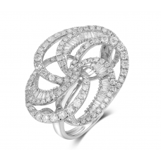 Dulat Channel Diamond Ring 18k White Gold
