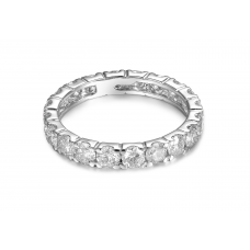 Yours Truly Eternity Diamond Ring 18k White Gold