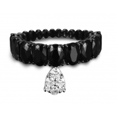 Dinglende Spinel Diamond Ring 18k Black Gold