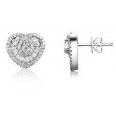 Gusto Hearts Diamond Earring 18K White Gold