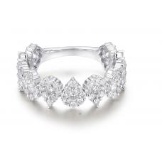 Pear Cluster Diamond Ring