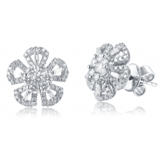 Pembe Channel Diamond Earring 18K White Gold