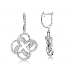 Litude Diamond Earring 18K White Gold