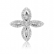 Four Leafy Diamond Earring 18K White Gold