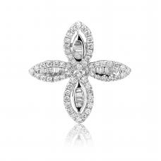 Four Leafy Diamond Earring 18K White Gold