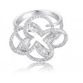 Penjoll Channel Diamond Ring 18K White Gold