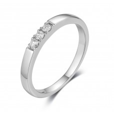 Classic channel diamond Ring 18k White Gold