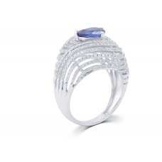 Bluebell Sapphire Prong Diamond Ring