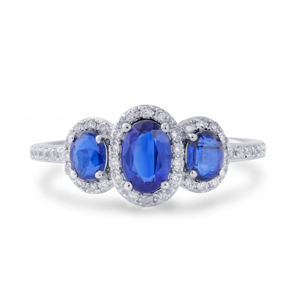 Brier Blue Kynite Prong Diamond Ring