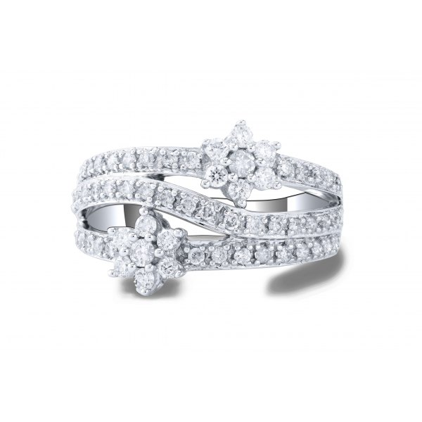Broadleaf Prong Diamond Ring