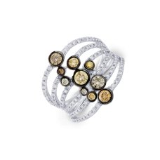 Bugle Bezel Diamond Ring