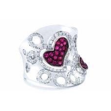 Howick Pave Ruby Diamond RIng
