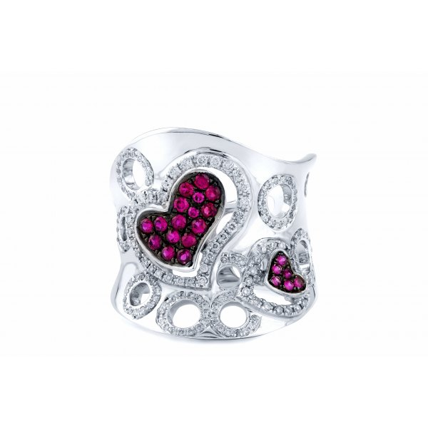 Howick Pave Ruby Diamond RIng