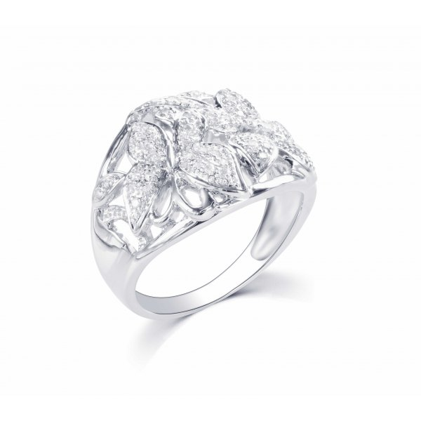 Poyoma Pave Diamond Ring