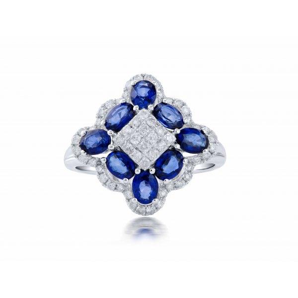 Tugela Blue Sapphire Diamond Ring
